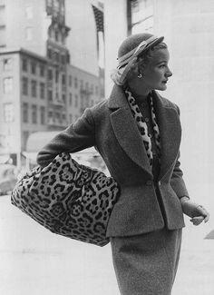Sunny Harnett, Tweed Fashions 1951    Photographed for LIFE Magazine. Nina Leen