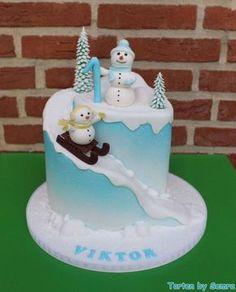 My little Snowman Cake by TortenbySemra