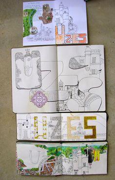 Cours de dessin et de peinture - carnets de voyage, croquis à Aix en Provence