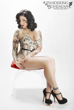 Bella Jade -- Pin-Up Photography - Lingerie - Tattoos - Ink