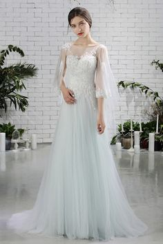 Shop Fairy Butterfly Sleeves Aline Long Tulle Beach Wedding Dress For Destination  Weddings free shipping online dd28864ad42e