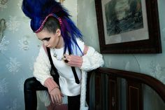 The Flaunt Issue 129 Photoshoot Stars an Edgy Lily Collins #mohawk trendhunter.com