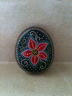 Decorative Dotted Flower Stone