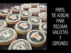 Decorar cupcakes con papel. Aprende cómo recortar papel de azúcar impreso.