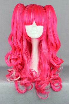 This wig is 70CM (27.55inch) long. While this wig is synthetic, you can use heat styling tools on it, however you must use a low setting to avoid damaging the wig.  *Please note that colors may vary slightly due to monitor differences