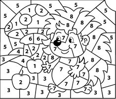 Educational Activities For Preschoolers, Kindergarten Portfolio, Color By Numbers, Autumn Activities, Worksheets, Coloring Pages, Projects To Try, Hedgehogs, Blog