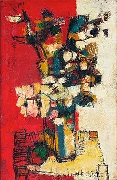 Paul Guiramand. Flowers in a Vase. 1958