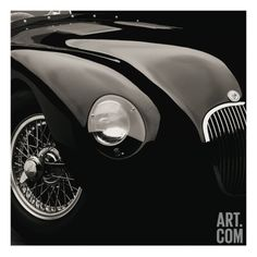 for powder, check my pics of cars to turn black/white Jaguar C-Type Giclee Print