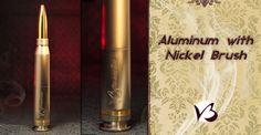 V3 .50 Caliber Aluminum Bullet Vape Mod with a Nickel Plating