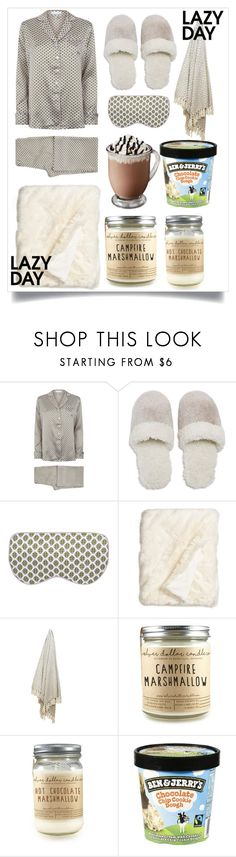 """""""Lazy day"""" by amelievia ❤ liked on Polyvore featuring Olivia von Halle, Natori and Nordstrom"""