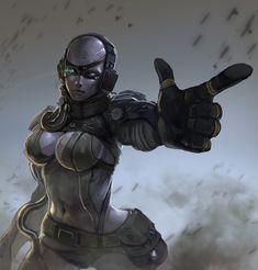 Metal Gear Solid fan skull girl by boqiang zheng on ArtStation. Snake Metal Gear, Metal Gear Games, Female Character Concept, Character Design, Metal Gear Solid Series, Mgs V, Metal Gear Rising, Gear Art, Playstation