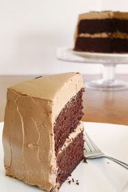 Minty's Kitchen: Chocolate Cake With Mocha Frosting