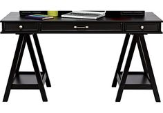 Cottage Colors Black Desk�. $399.99. Desk Top 55 x 24 x 4, Desk Base 21 x 23 x 23. Find affordable Desks for your home that will complement the rest of your furniture.�
