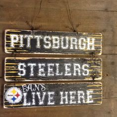 Pittsburgh Steelers Fans Live Here Outdoor Sports Fan Sign Hand Crafted Outdoor Sports Fan Sign by WOODruSAYINSigns on Etsy