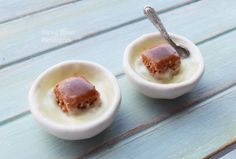 Miniature 1:12 Scale Food Sticky Toffee by DinkyDinerMinis