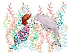Carolyne Tillery | Under the Sea III Mermaid Seaweed (1500×1159)