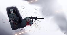 Grave by Xinom on DeviantArt Anime Military, Military Art, Manga Pictures, Pictures To Draw, Snow In Korea, Military Archives, Guerra Anime, Im Coming Home, Military Drawings
