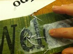 using mod podge to transfer words to wood