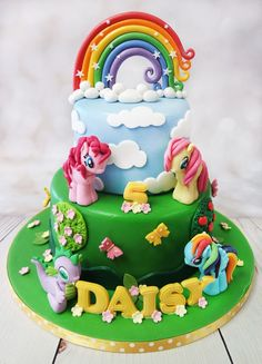 Image result for 2 tier my little pony cake