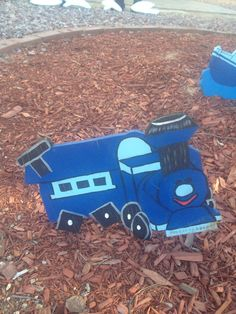 Square wheel choo-choo misfit toy.  From Rudoulph the Red Nosed Reindeer.  Christmas yard decoration i made from plywood