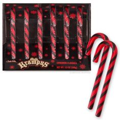 Even naughty people like delicious candy! This set of six, fire-and-brimstone (cinnamon) flavored candy canes are the perfect thing to put on your tree to encourage your children to be good... or else!