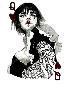Connie Lim is a freelance fashion illustrator from Los Angeles, California. Her latest project is a set of playing cards with fashion illustrations, that she crowd-funded on Kickstarter. Op Art, Dark Fashion, Fashion Art, Gothic Fashion, Trendy Fashion, Playing Cards Art, Queen Of Hearts, Deck Of Cards, Fashion Sketches