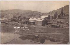 """Victor, Colorado RPPC Postcard """"PORTLAND MILL"""" Panorama - Lehr Photo 1929 Cancel"""