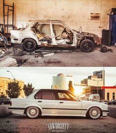 Before and after BMW box. 325 boss:
