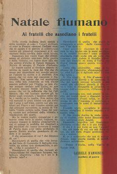 D'ANNUNZIO Gabriele, Natale Fiumano, 24 dicembre 1920. Volantino
