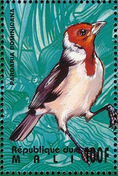Red-cowled Cardinal stamps - mainly images - gallery format