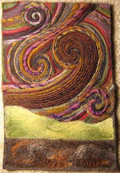 Art yarn felt painting | Flickr - Photo Sharing!
