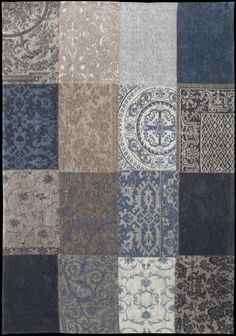 Nieuw Vintage Blue Denim vloerkleed