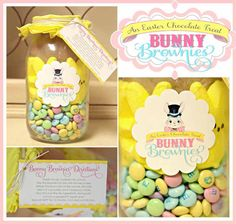 BUNNY BROWNIES IN A JAR HOW-TO AND FREE PRINTABLE