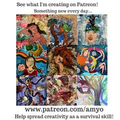 """If you've been following my blog, it's no surprise to you that I love creating…and have a hard time stopping! (As someone once commented about my art, I """"use excess gleefully!"""") Some of my art Who …"""