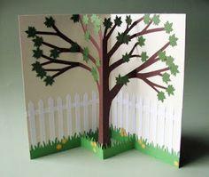 CornerstoneLAE: Pop-up cards Spring Tree Pop Out Cards, Pop Up Greeting Cards, 3d Cards, Greeting Cards Handmade, Arte Pop Up, Pop Up Art, Spring Art Projects, Paper Pop, Paper Tree
