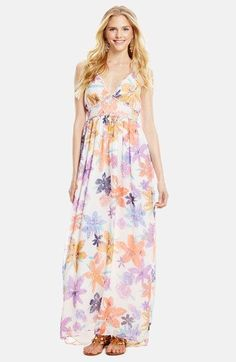Jessica Simpson 'Roslyn' Halter Maxi Dress available at #Nordstrom