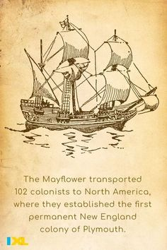 #OnThisDay in 1620, the Mayflower set sail from England to travel to North America! Check out this IXL skill to find out more about this historic journey: Plymouth Colony, 5th Grade Social Studies, Study Skills, Set Sail, 5th Grades, Throwback Thursday, New England, North America, Fun Facts