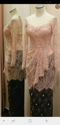 Kebaya Lace, Kebaya Hijab, Batik Kebaya, Kebaya Dress, Dress Pesta, Model Kebaya Brokat Modern, Dress Brokat Modern, Kebaya Modern Dress, Kebaya Simple