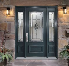 This door is really eye catching. I like the combination of the grey wood and the glass. It creates a very nice combination of old-fashioned and modern.  Walter Kowalski | http://www.comfortking.ca/doors.html