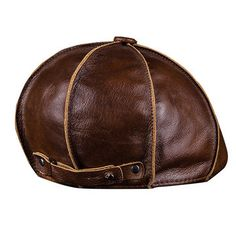 cb27aff709b Men s Genuine Leather Warm Octagonal Cap Casual Vintage Newsboy Cap Golf  Driving Hat is hot sale on Newchic Mobile.