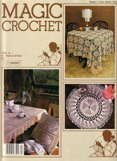 Magic Crochet Nº 17 - Edivana - Picasa ウェブ アルバム Crochet Doily Patterns, Crochet Chart, Filet Crochet, Crochet Designs, Crochet Doilies, Crochet Symbols, Crochet Ideas, Crochet Books, Thread Crochet