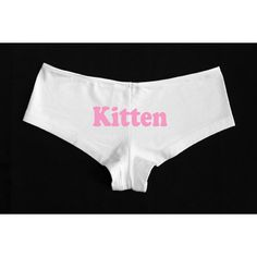 Kitten Boyshorts Shorties S-L ($17) ❤ liked on Polyvore featuring intimates, panties, black, lingerie, women's clothing, low rise panties, panties boyshorts, boy shorts panties, boy short lingerie and boyshort panty