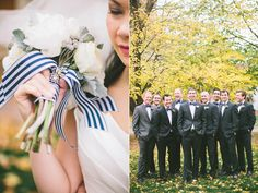 striped ribbon to match bow-tie