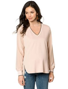 Vince Long Sleeve Lightweight Maternity Blouse