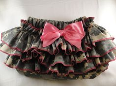 Little Army Girl Ruffle Diaper Cover