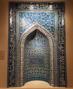 Celebrate #ArtMuseumDay with one of the most significant works in The Mets collection. This mihrab on view in gallery 455 was created by joining a myriad of cut glazed tiles to produce intricate arabesque and calligraphic designs. The result is one of the earliest and finest examples of mosaic tilework. Mihrab (Prayer Niche) A.H. 755/A.D. 135455. Iran Isfahan. #TheMet #MuseumDay #Mihrab by metmuseum
