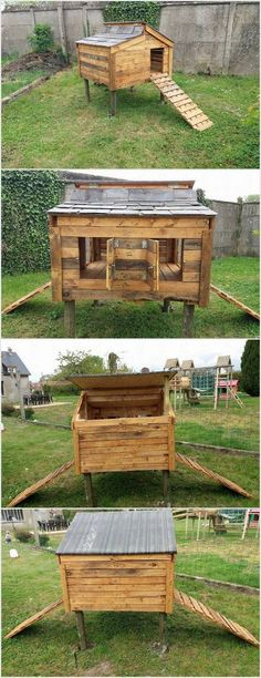 In order to create a chicken coop, the best material would be using the wood pallet. Pallets are durable and hard to break. You can design the whole chicken coop according to the quantity of the chickens you have. You can add the coop with the staircase so that it would be easy for the chickens to come out from the coop.