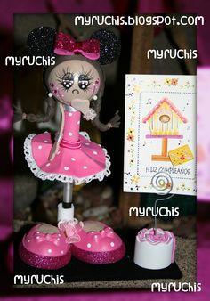 Fiesta Minnie, ideas fiestas infantiles, ideas fiesta Minnie, Invitaciones infantiles, invitaciones Minnie myruchis.blogspot.com