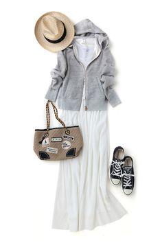 一着は欲しい、シルエット厳選のグレーパーカー:日経ウーマンオンライン