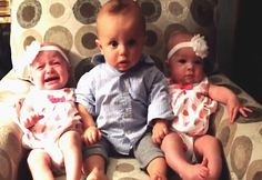 Baby Boy Is Totally Confused When He Meets Identical Twins – Watch This Adorable 30 Sec Video :D #babies #cute #humor #cuteness #humorvideo #crybaby #twins #adorable #viralvideos